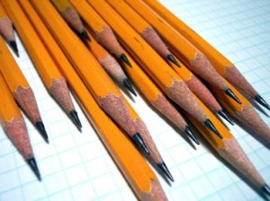 These pencils. In my eyes.