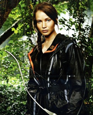 Katniss Everdeen, strong female role model.