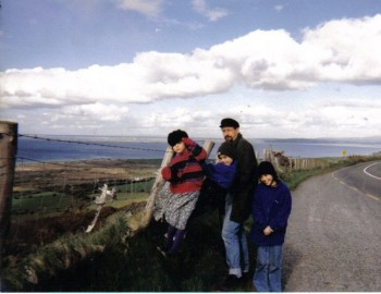 What a ragtag bunch of gypsies we are! Photo taken by my mom in Ireland.