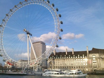 London Eye. Photo belongs to me.