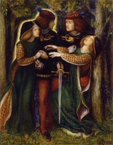 How They Met Themselves, by Dante Gabriel Rosetti