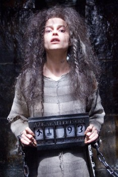 Bellatrix, complete with meth teeth.